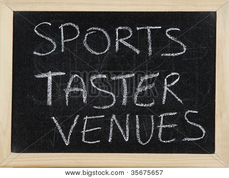 Sports Taster Venues.