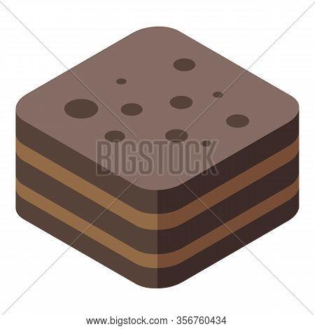 Chocolate Turkish Sweet Icon. Isometric Of Chocolate Turkish Sweet Vector Icon For Web Design Isolat