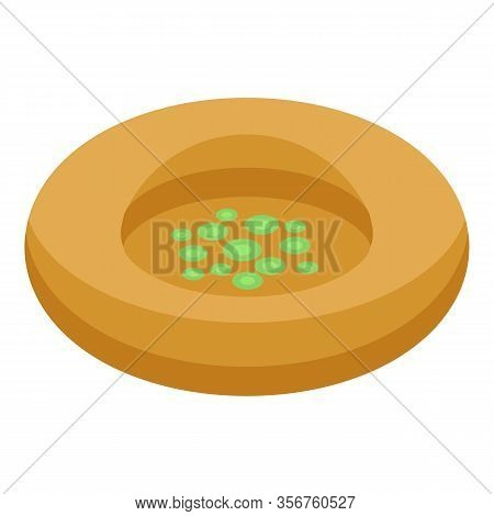 Turkish Bazar Sweet Icon. Isometric Of Turkish Bazar Sweet Vector Icon For Web Design Isolated On Wh