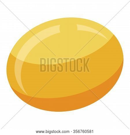 Turkish Persimmon Icon. Isometric Of Turkish Persimmon Vector Icon For Web Design Isolated On White