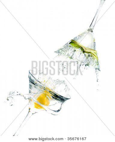 splashing Carambola into a martini glass