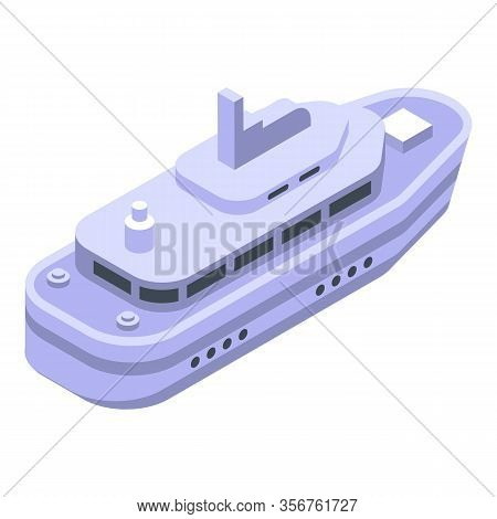 Cruise Yacht Icon. Isometric Of Cruise Yacht Vector Icon For Web Design Isolated On White Background