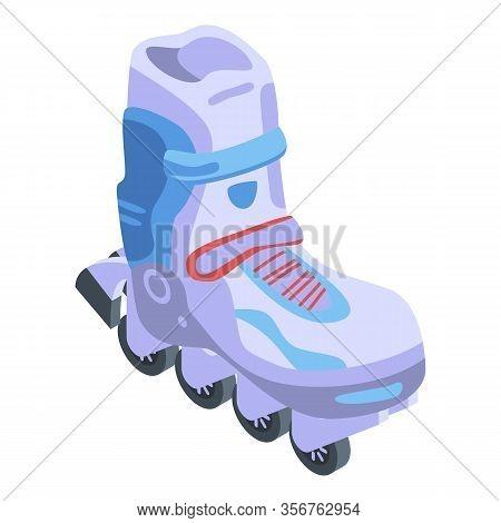 Professional Inline Skates Icon. Isometric Of Professional Inline Skates Vector Icon For Web Design