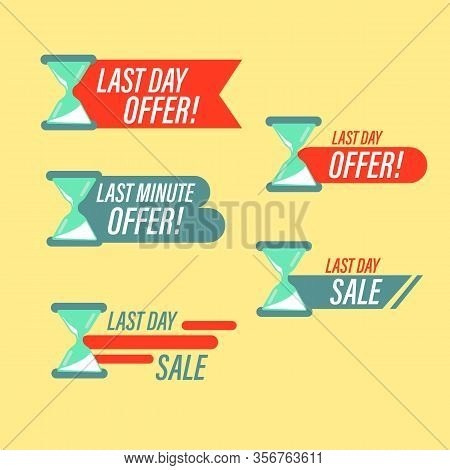 Sale Countdown Badges. Clearance Sale Promotions, Best Deal Badge, Happy Hours Promo Icon. One Week