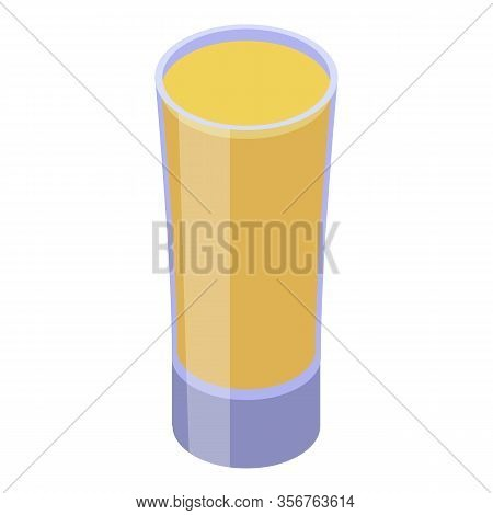 Carambola Juice Glass Icon. Isometric Of Carambola Juice Glass Vector Icon For Web Design Isolated O