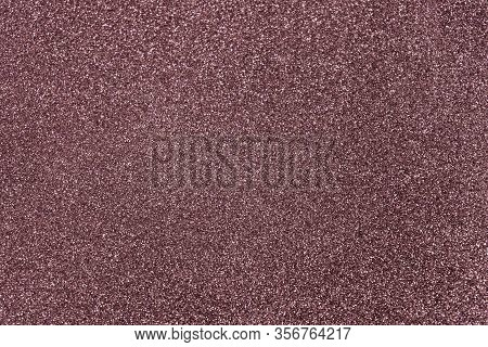 Rose Brown Glitter Twinkle Abstract New Year Or Christmas Holiday Background With Sparkles. Modern L
