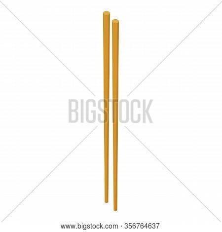 Traditional Chopsticks Icon. Isometric Of Traditional Chopsticks Vector Icon For Web Design Isolated