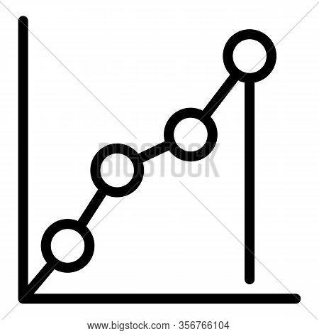 Progression Data Icon. Outline Progression Data Vector Icon For Web Design Isolated On White Backgro