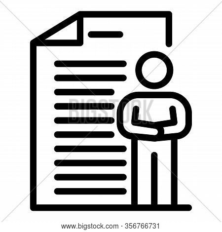Business Management Life Skill Icon. Outline Business Management Life Skill Vector Icon For Web Desi