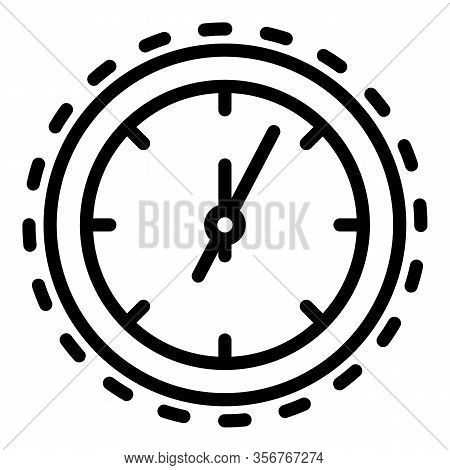 Watch Fix Icon. Outline Watch Fix Vector Icon For Web Design Isolated On White Background