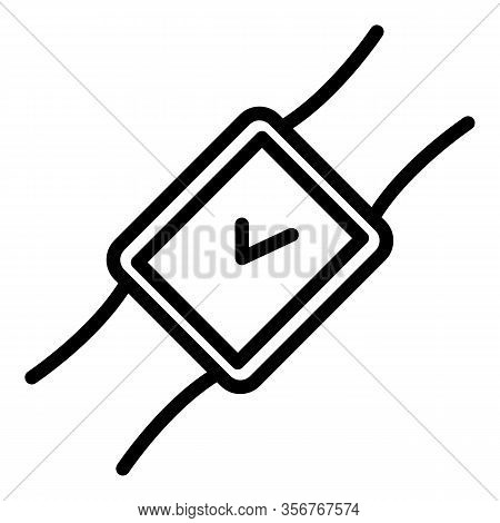 Modern Smartwatch Icon. Outline Modern Smartwatch Vector Icon For Web Design Isolated On White Backg