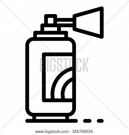 Gasoline Spray Bottle Icon. Outline Gasoline Spray Bottle Vector Icon For Web Design Isolated On Whi