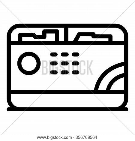 Gasoline Generator Icon. Outline Gasoline Generator Vector Icon For Web Design Isolated On White Bac