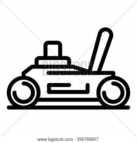 Car Jack Icon. Outline Car Jack Vector Icon For Web Design Isolated On White Background