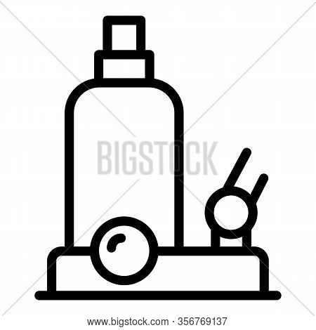 Hydraulic Jack Equipment Icon. Outline Hydraulic Jack Equipment Vector Icon For Web Design Isolated