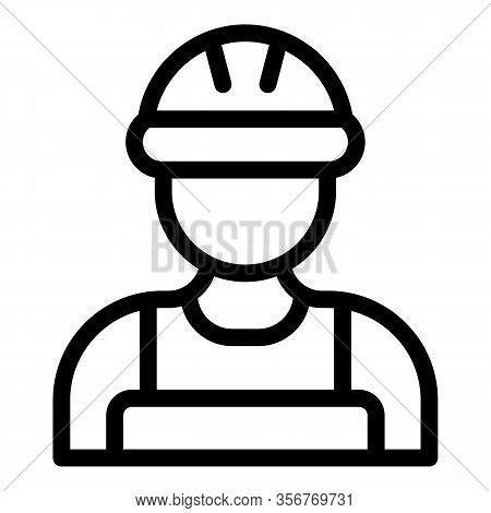Tiler Avatar Icon. Outline Tiler Avatar Vector Icon For Web Design Isolated On White Background