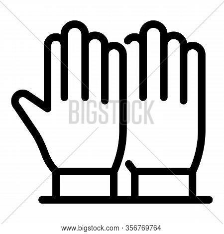 Tiler Gloves Icon. Outline Tiler Gloves Vector Icon For Web Design Isolated On White Background