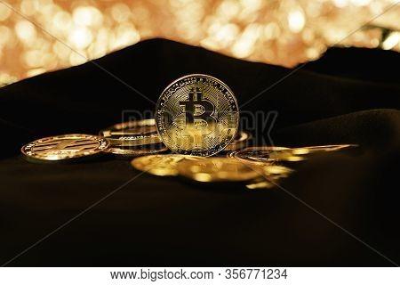 Bitcoin. Crypto Currency Gold Bitcoin, Btc, Bit Coin.