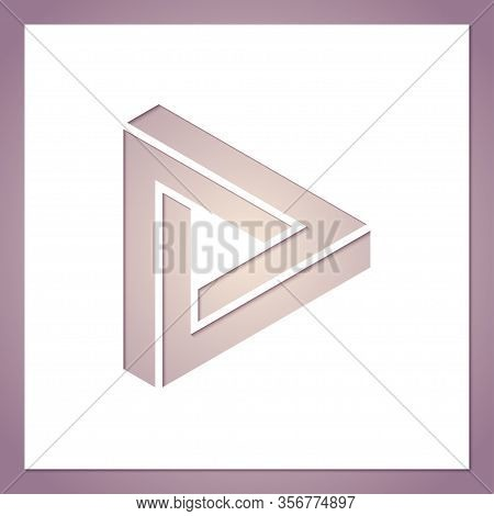 Card With A Hole In The Form Of A Geometric Figure. A Triangle Symbolizing Infinity. Template For La