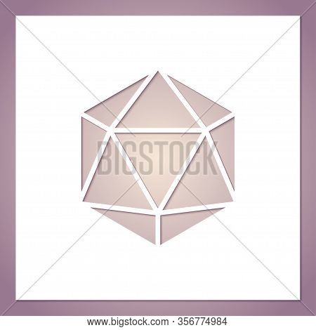Card With A Hole In The Form Of A Geometric Figure. Futuristic Symmetric Polygon. Template For Laser