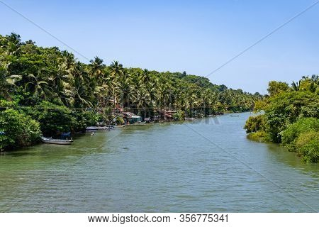 View Into The Green Channel Of The Indian Backwaters, India
