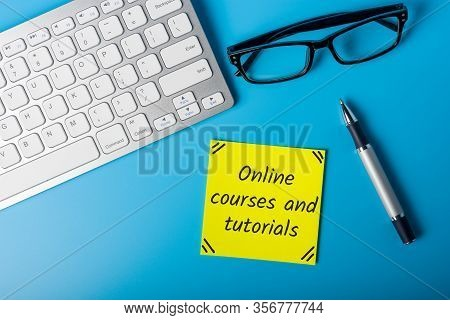 Online Courses And Tutorials. Self-study From Home, Self-learning At Quarantine Time
