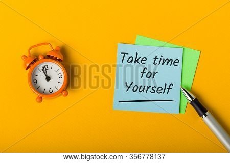 Take Time For Yourself - Concept Of Online Education. Development And Self-study At Quarantine Time
