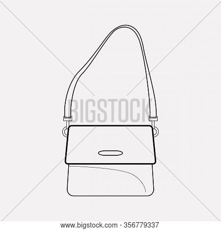 Shoulder Bag Icon Line Element. Vector Illustration Of Shoulder Bag Icon Line Isolated On Clean Back
