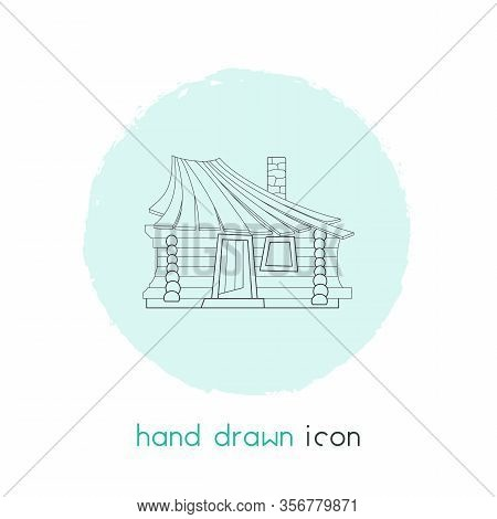 Small Hut Icon Line Element. Illustration Of Small Hut Icon Line Isolated On Clean Background For Yo