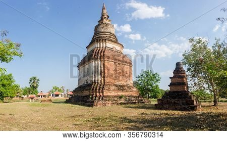 Wat Chedi Sung Is The Tallest Stupa In The Sukhothai Area, At 33 M Height