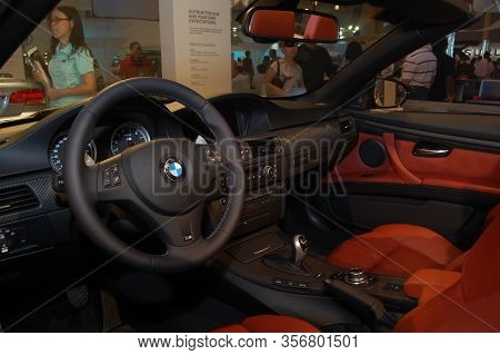 Pasay, Ph - Aug. 19: Bmw M3 Cabrio Dashboard At 3rd Philippine International Motor Show On August 19