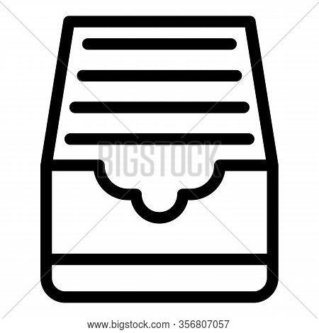 Explore Folders Icon. Outline Explore Folders Vector Icon For Web Design Isolated On White Backgroun