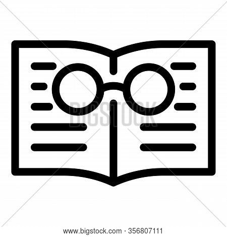 Book Exploration Icon. Outline Book Exploration Vector Icon For Web Design Isolated On White Backgro