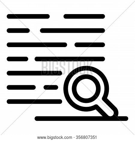 Reading Book Exploration Icon. Outline Reading Book Exploration Vector Icon For Web Design Isolated