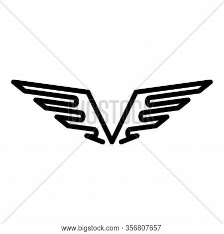 Air Force Wings Icon. Outline Air Force Wings Vector Icon For Web Design Isolated On White Backgroun