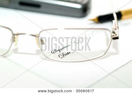 Small print through a blurry pair of glasses