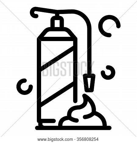 Polyurethane Foam Bottle Icon. Outline Polyurethane Foam Bottle Vector Icon For Web Design Isolated