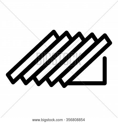 Part Of The Gable Roof Icon. Outline Part Of The Gable Roof Vector Icon For Web Design Isolated On W
