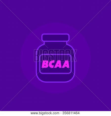 Bcaa, Gym Supplements Vector Icon, Eps 10 File, Easy To Edit