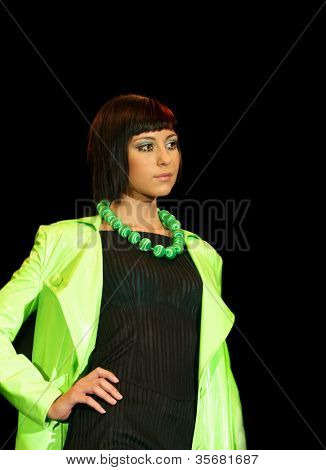 model  fashion show.