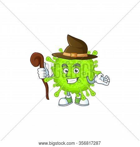 Sweet And Tricky Witch Orthocoronavirinae Cartoon Character