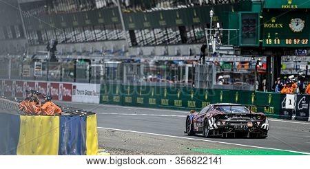 Le Mans / France - June 15-16 2019: 24 Hours Of Le Mans, Kessel Racing Team, Ferrari 488 Gte Gteam,