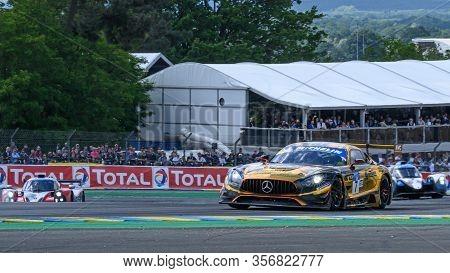 Le Mans / France - June 15-16 2019: 24 Hours Of Le Mans, Scuderia Villorba Corse Team, Mercedes Amg