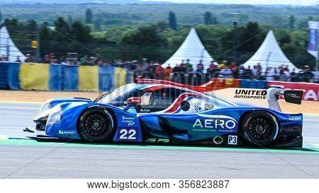 Le Mans / France - June 15-16 2019: 24 Hours Of Le Mans, United Autosports Team, Ligier Jsp3 - Nissa