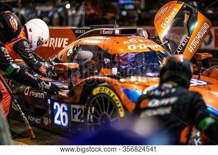 Le Mans / France - June 15-16 2019: 24 Hours Of Le Mans, Sg-drive Racing Team , Aurus 01 Lmp2 In The