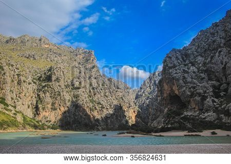 Torrent De Pareis On The West Coast In Mallorca, Spain
