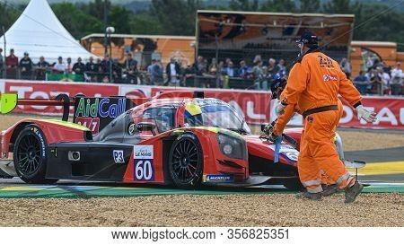 Le Mans / France - June 15-16 2019: 24 Hours Of Le Mans, Cd Sport Team, Norma M30 - Nissan Lmp3, Roa