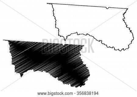 Hamilton County, Florida (u.s. County, United States Of America,usa, U.s., Us) Map Vector Illustrati