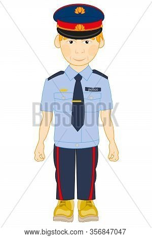 Vector Illustration Men In Year Form Of The Police Bodies