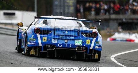Le Mans / France - June 15-16 2019: 24 Hours Of Le Mans, Rizi Competition Team , Ferrari 488 Gte Gte
